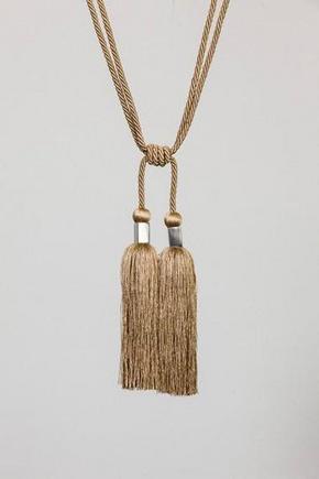 GARDINOMTAG - naturfärgad, Klassisk, textil (70cm)