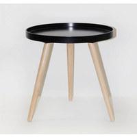 POMOĆNI STOLIĆ - prirodne boje/crna, Basics, drvo (41/41cm)