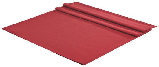 TISCHDECKE Textil Leinwand, Struktur Rot 140/180 cm - Rot, Basics, Textil (140/180cm) - Novel