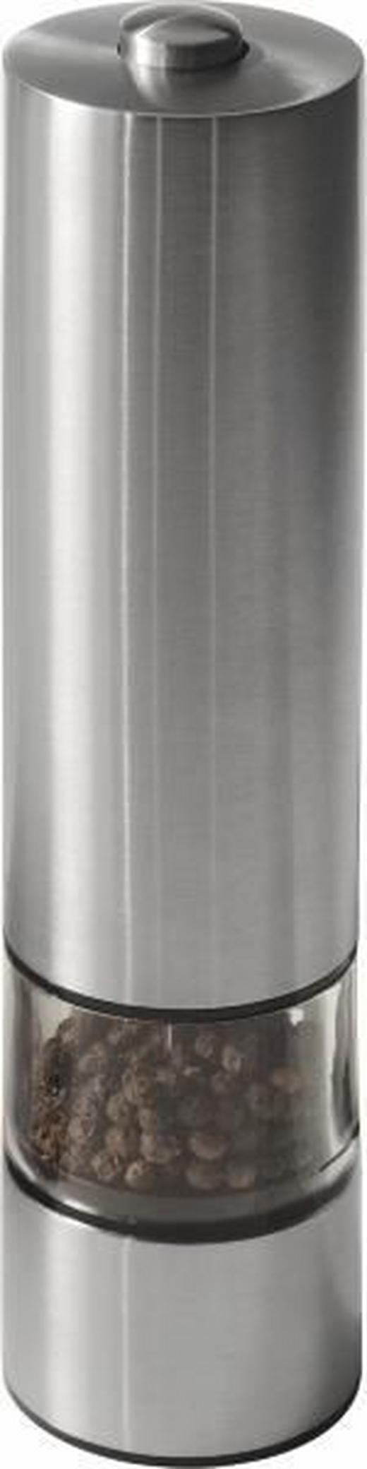 ELEKTR. SALZ-/PFEFFERMÜHLE - Edelstahlfarben, KONVENTIONELL, Metall (22cm)