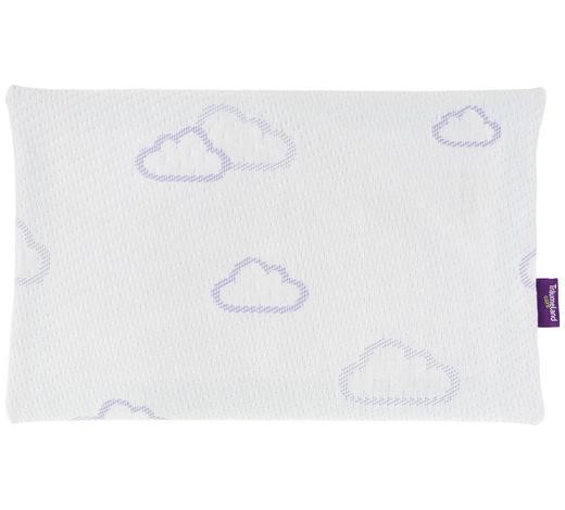 POLŠTÁŘ DĚTSKÝ, 40/25 cm - bílá/fialová, Basics, textil (40/25cm) - Träumeland