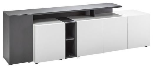 LOWBOARD - Anthrazit/Schwarz, Design, Holzwerkstoff/Kunststoff (184/50/43cm) - Voleo