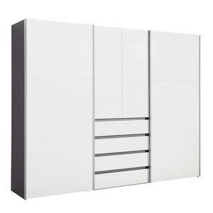 ORMAR ZA ODEĆU - Boja aluminijuma/Grafitno siva, Dizajnerski, Metal/Pločasti materijal (300/236/68cm) - Hom`in