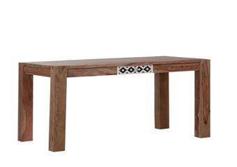 ESSTISCH Sheesham massiv rechteckig Sheeshamfarben - Sheeshamfarben, Design, Holz (160/77/90cm) - LANDSCAPE