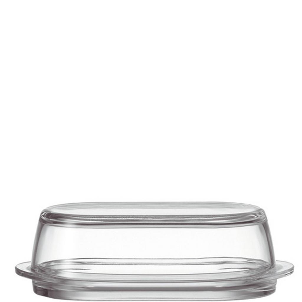 Image of Leonardo Butterdose glas , 063690 , Transparent , 21x6.2x10 cm , klar, satiniert , 0038131856