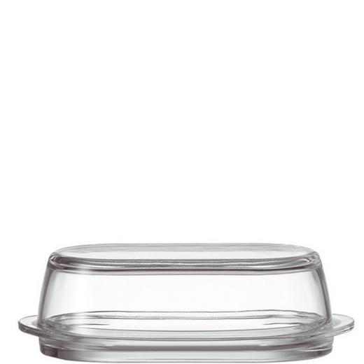 BUTTERDOSE Glas - Transparent, Basics, Glas (21/6.2/10cm) - LEONARDO