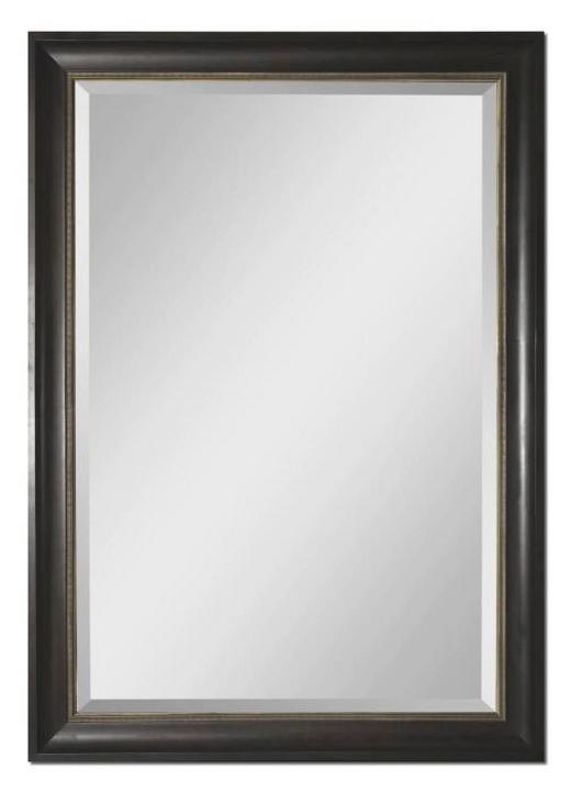SPIEGEL Fichte Schwarz - Schwarz/Braun, LIFESTYLE, Glas/Holz (148/209/7cm)