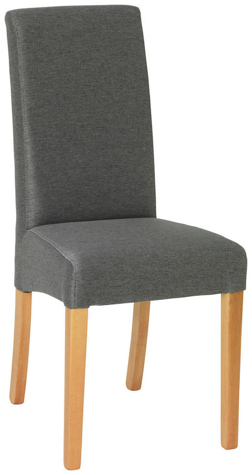 STUHL in Holz, Textil Graphitfarben, Buchefarben - Buchefarben/Graphitfarben, KONVENTIONELL, Holz/Textil (57/95/42cm) - Carryhome