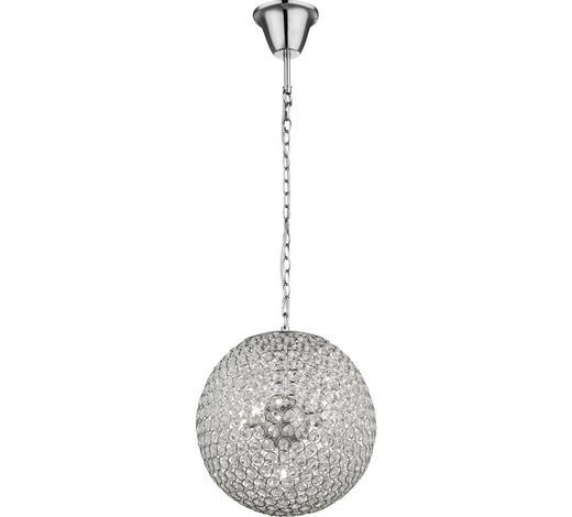 HÄNGELEUCHTE - Klar/Chromfarben, LIFESTYLE, Glas/Metall (35/140cm) - Glandor