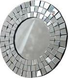 OGLEDALO, 80/80/4,1 cm steklo - črna/prozorna, Basics, steklo/leseni material (80/80/4,1cm) - Novel