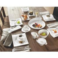 Fine China  DESSERTTELLER  quadratisch  - Weiß, Basics, Keramik (24/24cm) - Villeroy & Boch