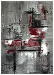 WEBTEPPICH  - Rot/Grau, KONVENTIONELL, Textil (80/150cm) - Boxxx