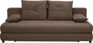 SCHLAFSOFA in Textil Hellbraun - Hellbraun/Schwarz, Design, Kunststoff/Textil (208/73-90/102cm) - Hom`in