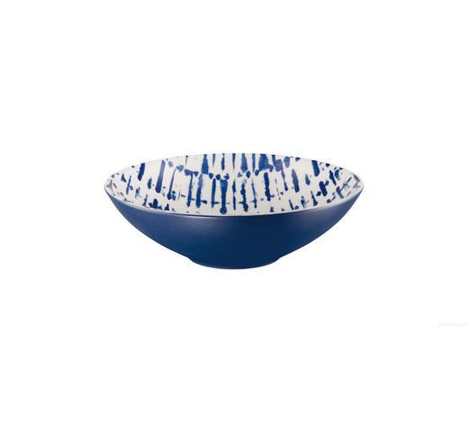Steinzeug  SUPPENTELLERSET - Blau/Weiß, Keramik (18/5cm) - ASA