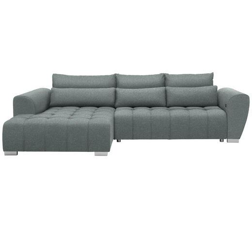 WOHNLANDSCHAFT in Textil Türkis  - Türkis/Silberfarben, MODERN, Kunststoff/Textil (218/304cm) - Carryhome