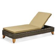 SONNENLIEGE - Taupe/Braun, Design, Holz/Kunststoff (73/81,8/200cm) - Ambia Garden