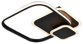 LED-DECKENLEUCHTE - Schwarz/Weiß, LIFESTYLE, Kunststoff/Metall (40/38/6cm) - Boxxx