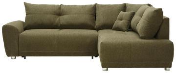 WOHNLANDSCHAFT in Textil Grün  - Silberfarben/Grün, KONVENTIONELL, Kunststoff/Textil (260/205cm) - Carryhome