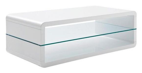 COUCHTISCH in Glas, Holzwerkstoff 120/60/40 cm   - Weiß, Design, Glas/Holzwerkstoff (120/60/40cm) - Xora