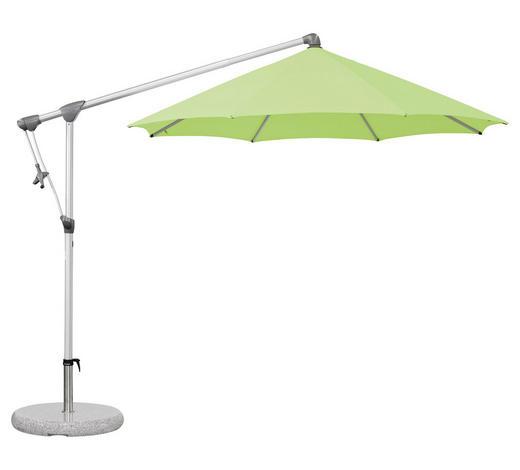 AMPELSCHIRM 330 cm Mintgrün  - Mintgrün/Grau, Design, Textil/Metall (330cm) - Glatz