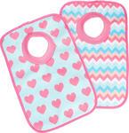 LÄTZCHEN 2-teilig - Türkis/Pink, Basics, Textil (23,5/37cm) - MY BABY LOU