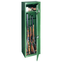 WAFFENSCHRANK GUN SAFE 5 - Grün, KONVENTIONELL, Metall (37/150/26,5cm)