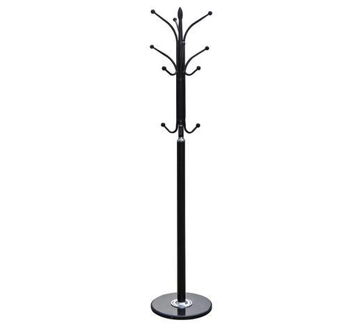 KLEIDERSTÄNDER Schwarz  - Schwarz, Design, Stein/Metall (37/180/37cm) - Carryhome