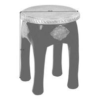 TABURET - bílá/barvy zlata, Trend, dřevo/kompozitní dřevo (34/45/34cm) - Ambia Home