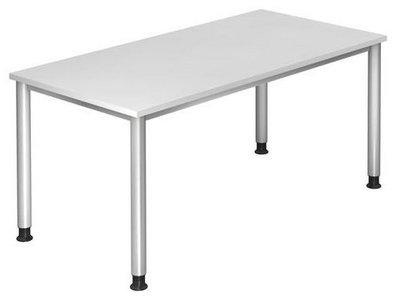 Hohenverstellbarer Schreibtisch 160x80 Cm In Weiss