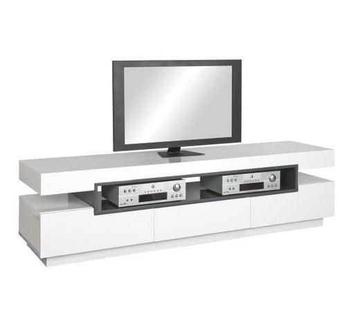 TV-ELEMENT Grau, Weiß  - Weiß/Grau, Design, Holzwerkstoff (200/52/50cm) - Novel