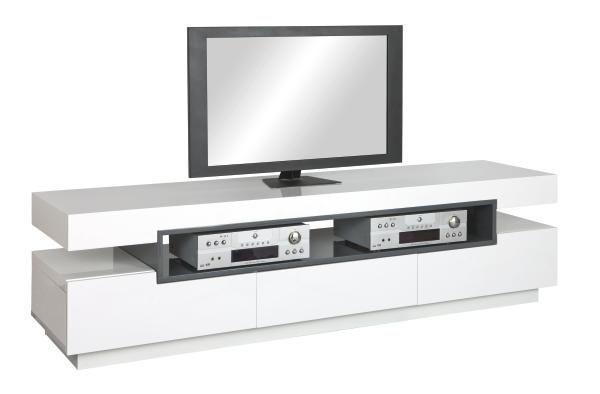TV-ELEMENT Grau, Weiß - Weiß/Grau, MODERN, Holzwerkstoff (200/52/50cm)