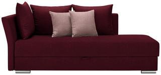LIEGE in Textil Rot - Chromfarben/Rot, Design, Kunststoff/Textil (220/93/100cm) - Xora