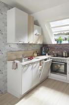 KUCHYŇSKÝ BLOK - bílá/barvy dubu, Design, kompozitní dřevo (310cm) - Celina