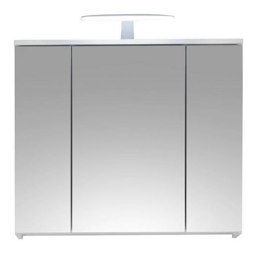 SPIEGELSCHRANK Weiß - Weiß, Design, Glas/Holzwerkstoff (80/67/2cm) - Xora