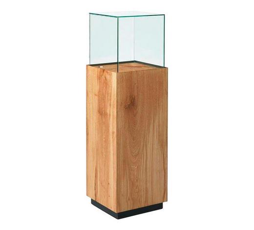 VITRINE  in massiv Eiche Eichefarben - Eichefarben, Design, Glas/Holz (37,5/123,6/37,5cm)