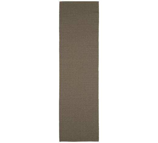 UBRUS 'BĚHOUN' NA STŮL, 40/140 cm, šedohnědá - šedohnědá, Basics, textil (40/140cm) - Boxxx