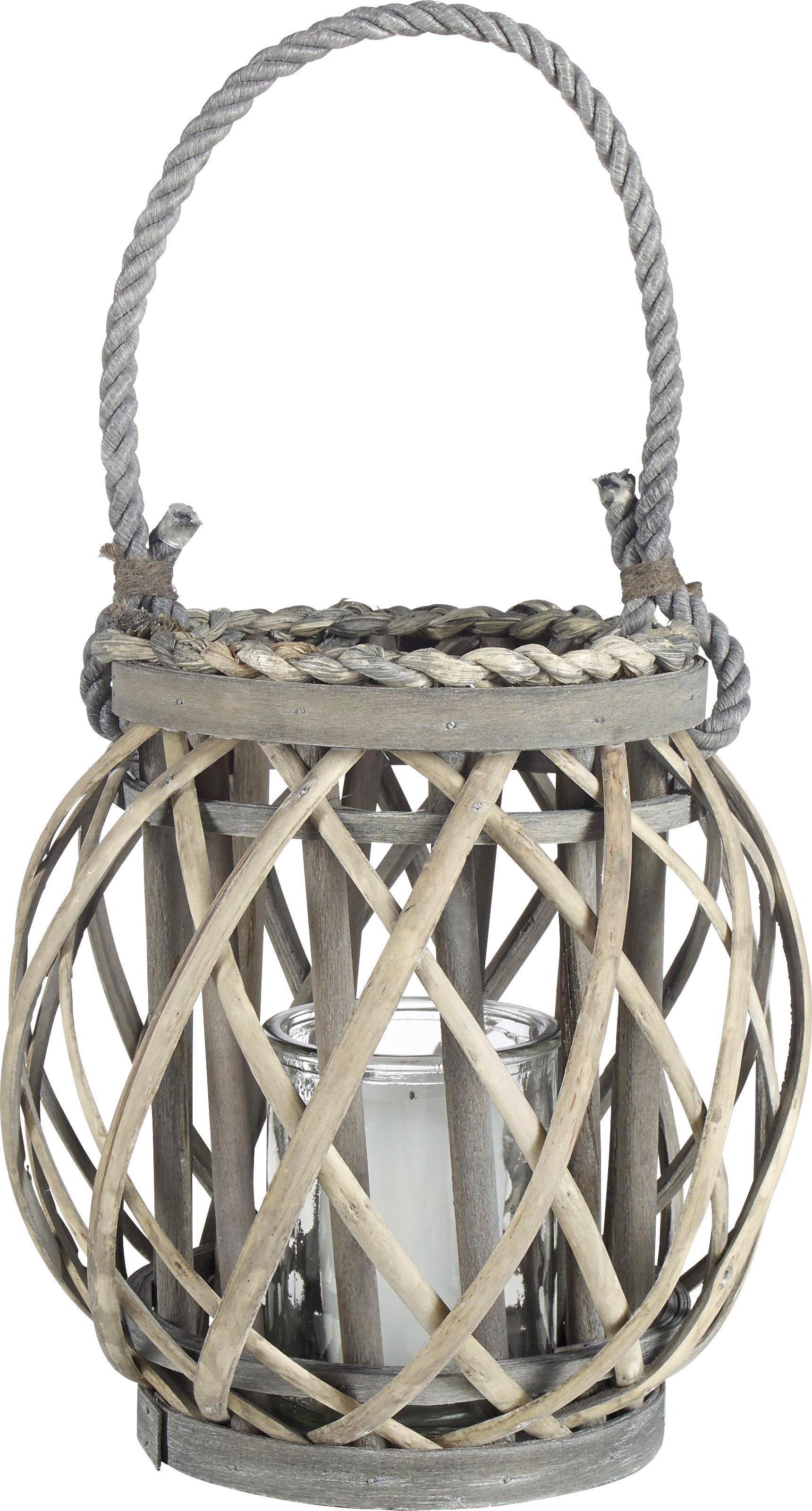 LJUSLYKTA - klar/grå, Trend, trä/glas (15/21cm) - Ambia Home