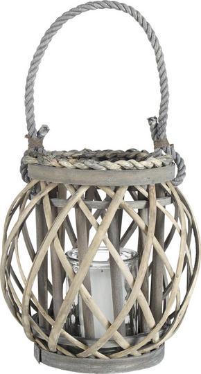 LJUSLYKTA - klar/grå, Trend, glas/trä (15/21cm) - Ambia Home