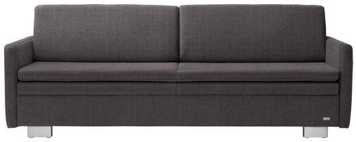 SCHLAFSOFA in Textil Dunkelgrau - Dunkelgrau, KONVENTIONELL, Textil/Metall (216/84/92cm) - Sedda
