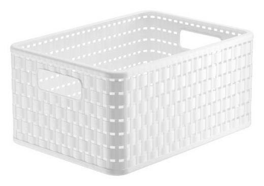 KORB - Weiß, Basics, Kunststoff (32,8/23,8/16cm)