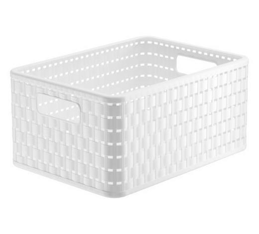 KOŠ, bílá - bílá, Basics, umělá hmota (32,8/23,8/16cm) - Rotho