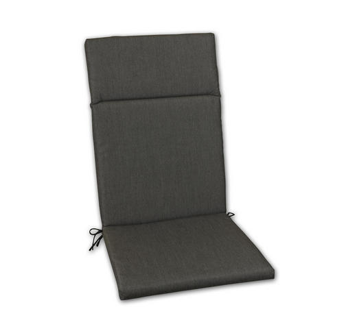 SESSELAUFLAGE Uni  - Graphitfarben, Design, Textil (50/120/4cm)