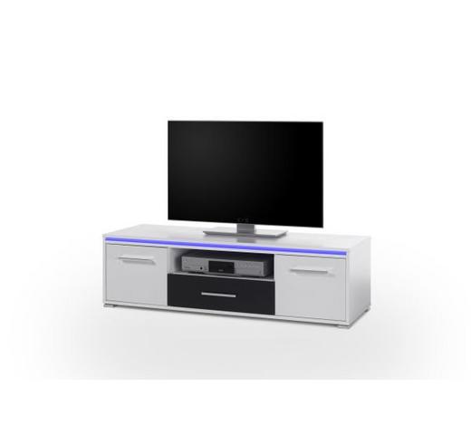 TV ELEMENT - bijela/boje srebra, Design, drvni materijal/plastika (130/38/45cm) - Boxxx