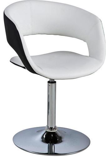 STUHL Lederlook Schwarz, Weiß - Schwarz/Weiß, Design, Textil/Metall (56/79/54cm) - CARRYHOME