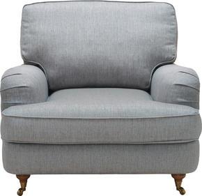 FÅTÖLJ - alufärgad/svart, Lifestyle, metall/textil (94/84/94cm) - Lerche Home