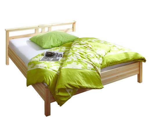 BETT Kiefer massiv 140/200 cm  - Kieferfarben, KONVENTIONELL, Holz (140/200cm) - Carryhome