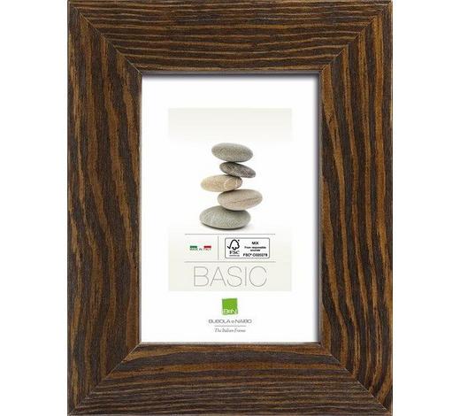 Bilderrahmen Serie Basic Holz in Dunkelbraun - Dunkelbraun, KONVENTIONELL, Glas/Holz (15,4/20,4cm)