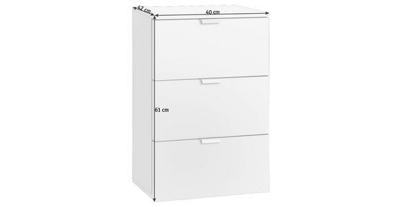 NACHTKÄSTCHEN in Sonoma Eiche, Weiß - Alufarben/Weiß, Design, Holzwerkstoff/Metall (40/61/42cm) - Hom`in