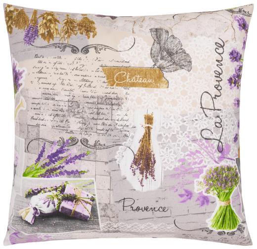 ZIERKISSEN 50/50 cm - Violett/Grau, Design, Textil (50/50cm)