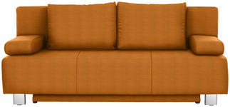 SCHLAFSOFA in Textil Orange - Chromfarben/Orange, Design, Textil/Metall (197/88/89cm) - Xora